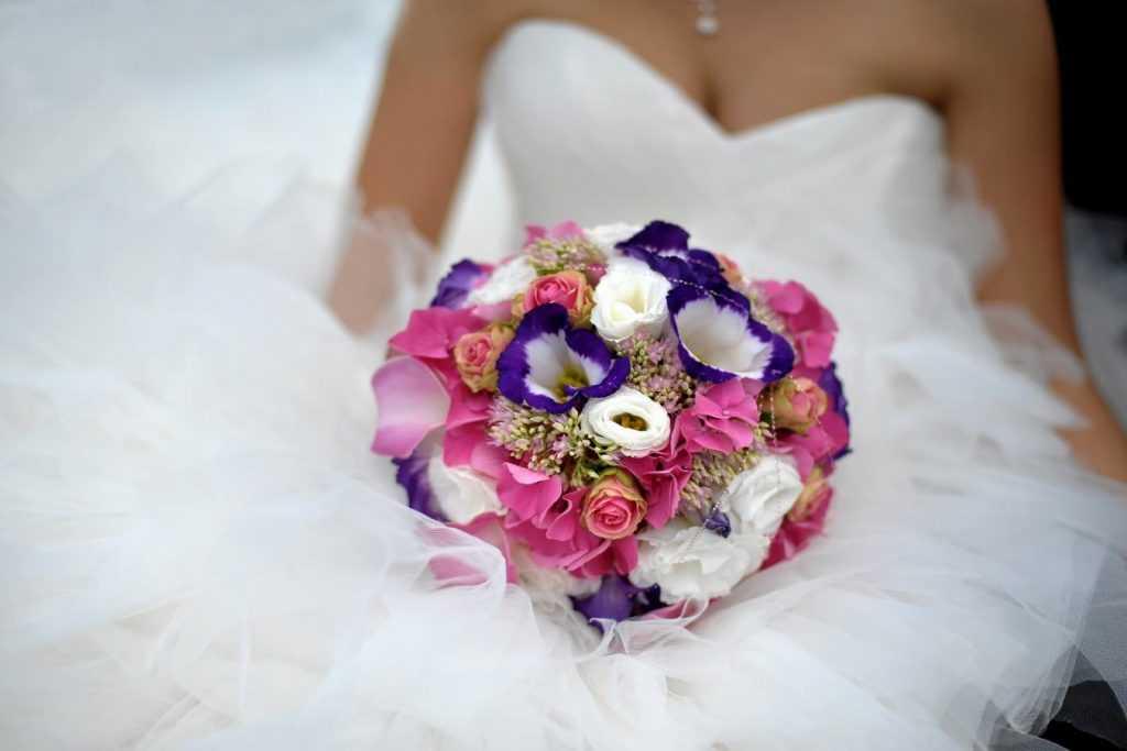 Farebná svadobná kytica