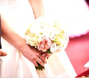 Minimalistická svadobná kytica
