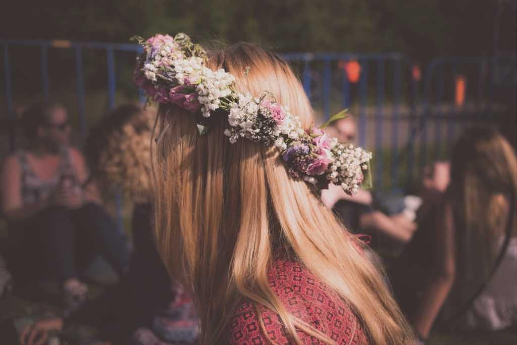 Kvetinová čelenka svadba
