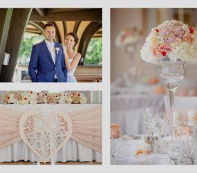 Lososová svadobná výzdoba
