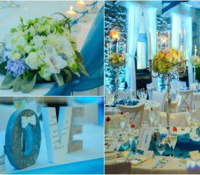 Luxusná modrá výzdoba
