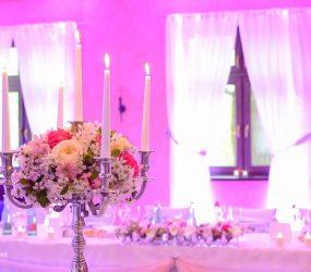 Rozprávková svadobná výzdoba miestnosti