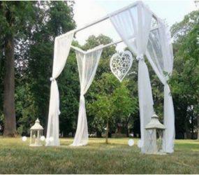svadobny obluk altanok svadba obrad priroda vonku