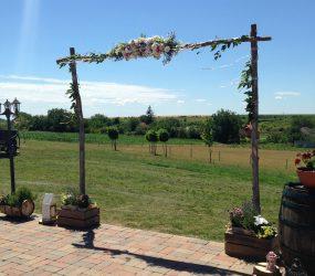 Svadobná dekorácia vonku