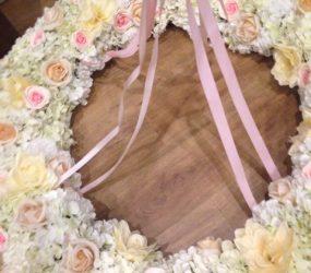 Kvetinový svadobná dekorácia