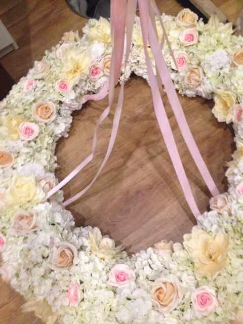 Kvetinová svadobná dekorácia