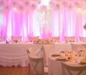 Ružová svadobná výzdoba