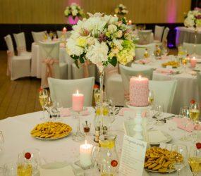 Svadobná výzdoba stola