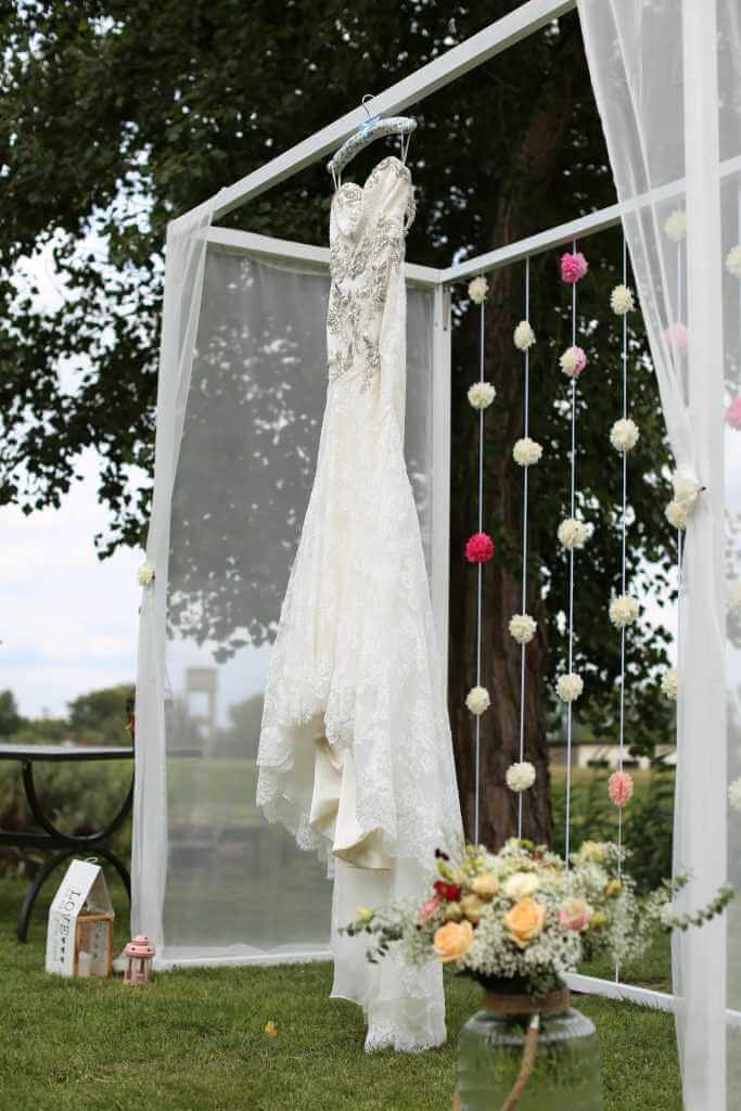 Svadobná výzdoba vonku