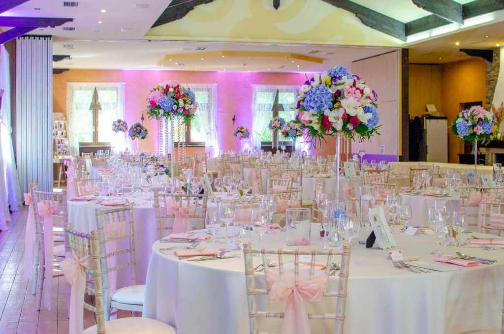 ružová svadobná výzdoba jedálne Nové Zámky BEREK