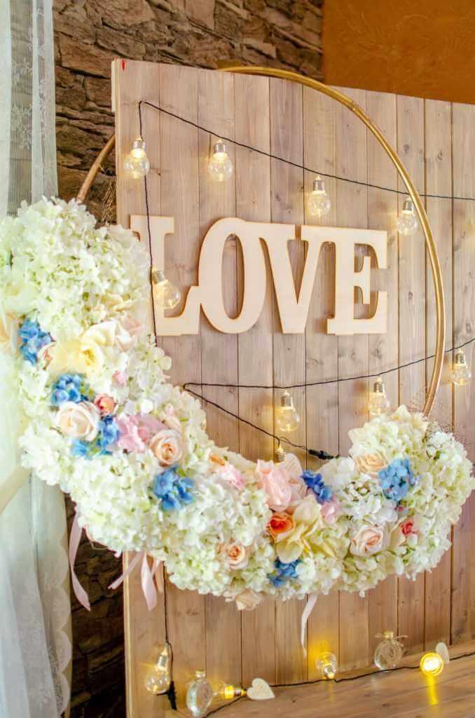 LOVE písmená na svadbu Galanta