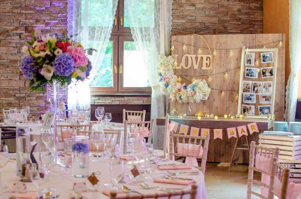 Romantické svadobné dekorácie