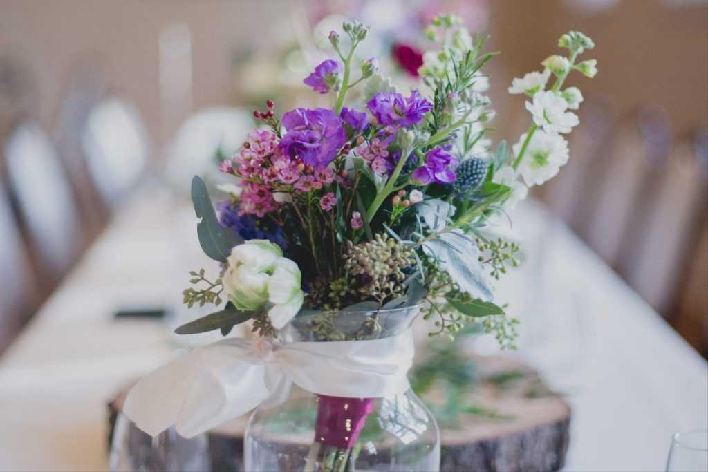 Fialová výzdoba vintage Provence