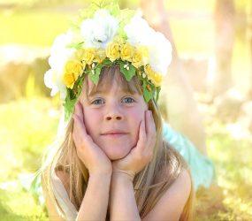 Detské kvetinové čelenky na svadbu