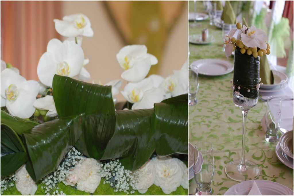 Orchideová svadobná výzdoba