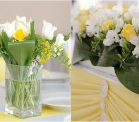 Tulipánová farebná svadobná výzdoba