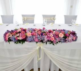 Kvetinová výzdoba sály Nové Zámky