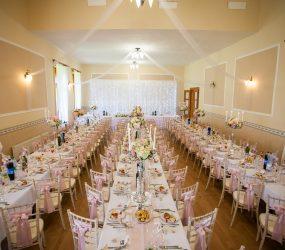 Ružová svadobná jedáleň