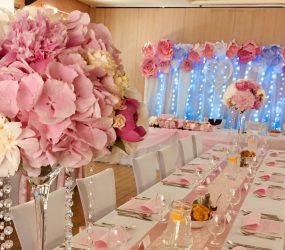 Ružová rozprávková výzdoba miestnosti