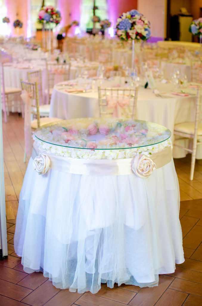 svadobná výzdoba okrúhlych stolov Nitra