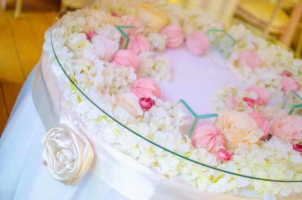 svadobná výzdoba okrúhlych stolov Nové Zámky