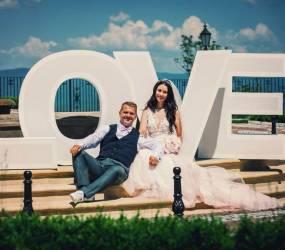 veľké drevené LOVE písmená na prenájom Nové Zámky