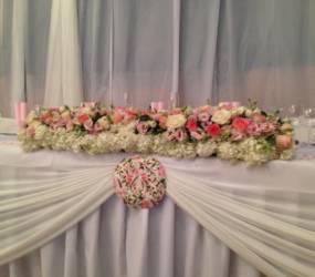 romanticka vyzdoba na svadbe Púchov
