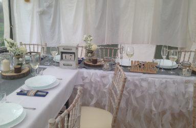 Retro svadobná výzdoba Prievidza