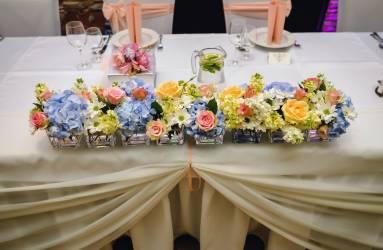 Modrá svadobná kvetinová výzdoba Nitra